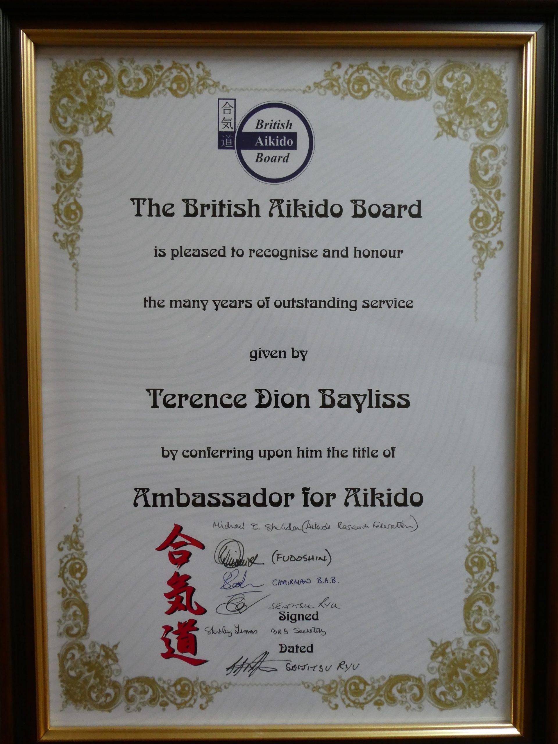 Bayliss Certificate